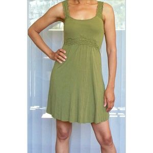BAILEY 44 army green empire waist summer dress
